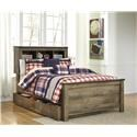 Signature Design by Ashley Trinell Twin Bookcase Bed with Under Bed Storage Pac - Item Number: 801446027