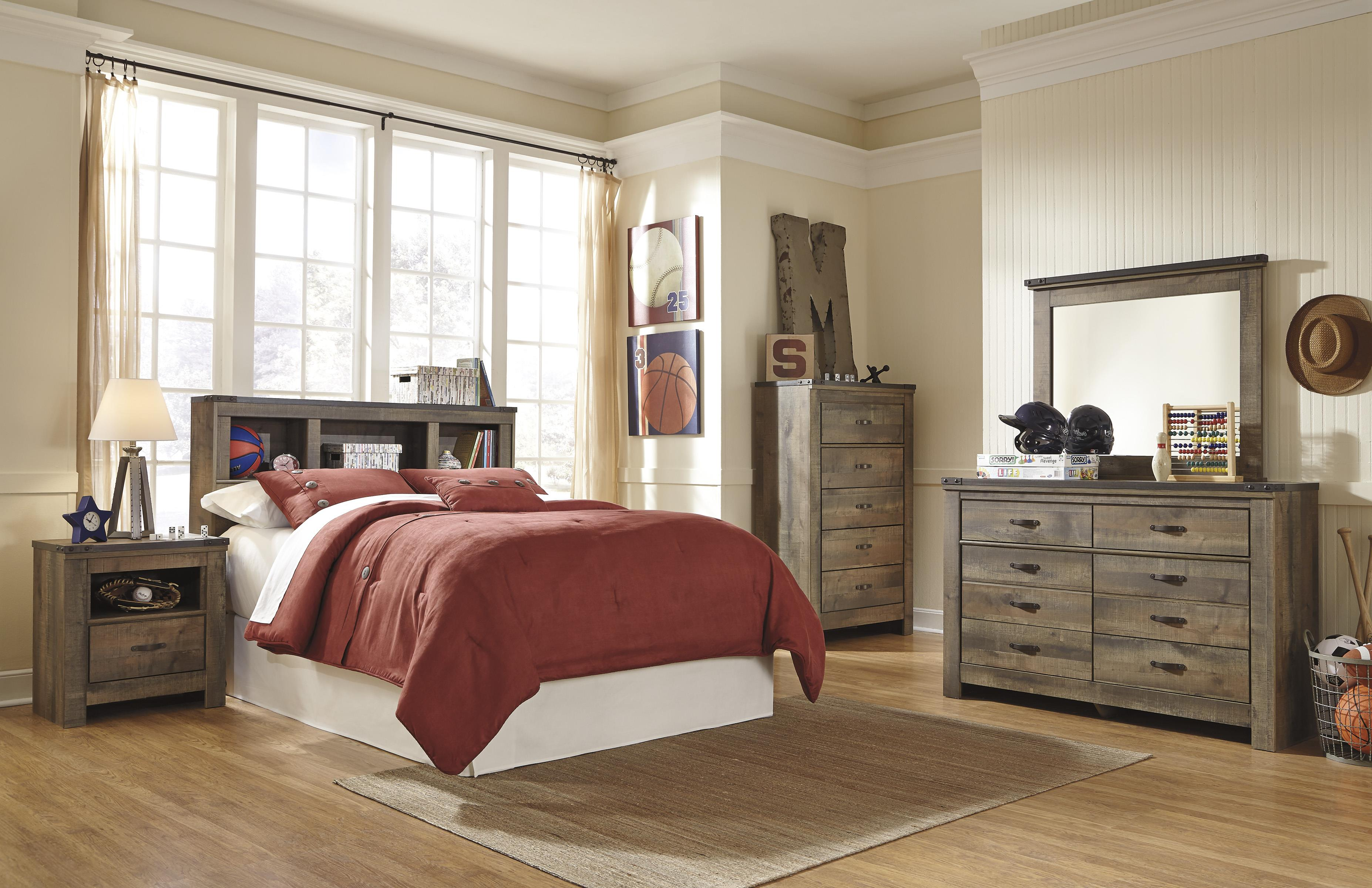 Signature Design by Ashley Trinell Full Bedroom Group - Item Number: B446 F Bedroom Group 5