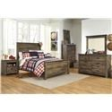 Signature Design by Ashley Trinell Full 5 Piece Bedroom Group - Item Number: B446 Full 5 Pc Group