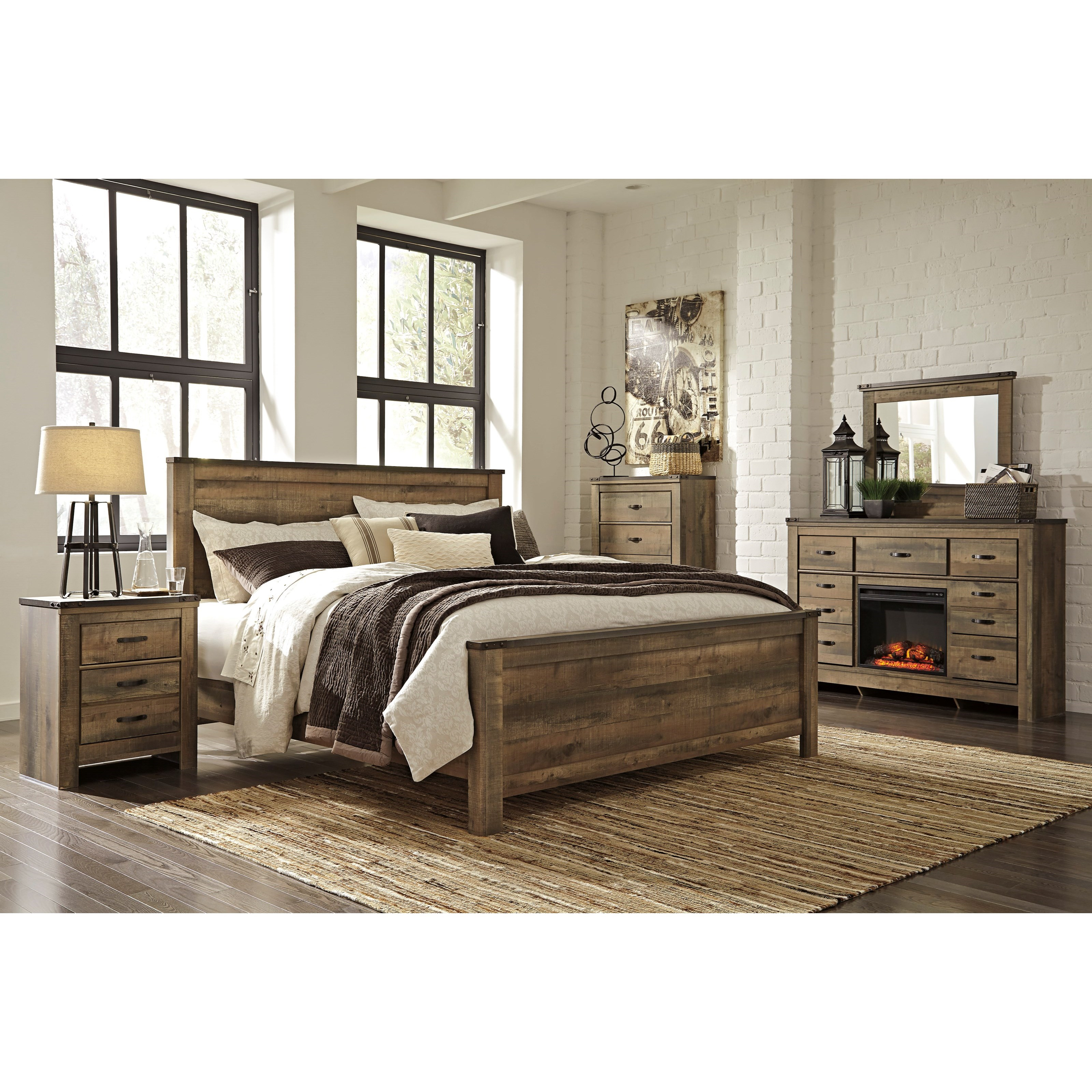 Ashley City Furniture: Signature Design By Ashley Trinell King Bedroom Group