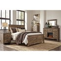 Signature Design by Ashley Trinell Queen Bedroom Group - Item Number: B446 Q Bedroom Group 8