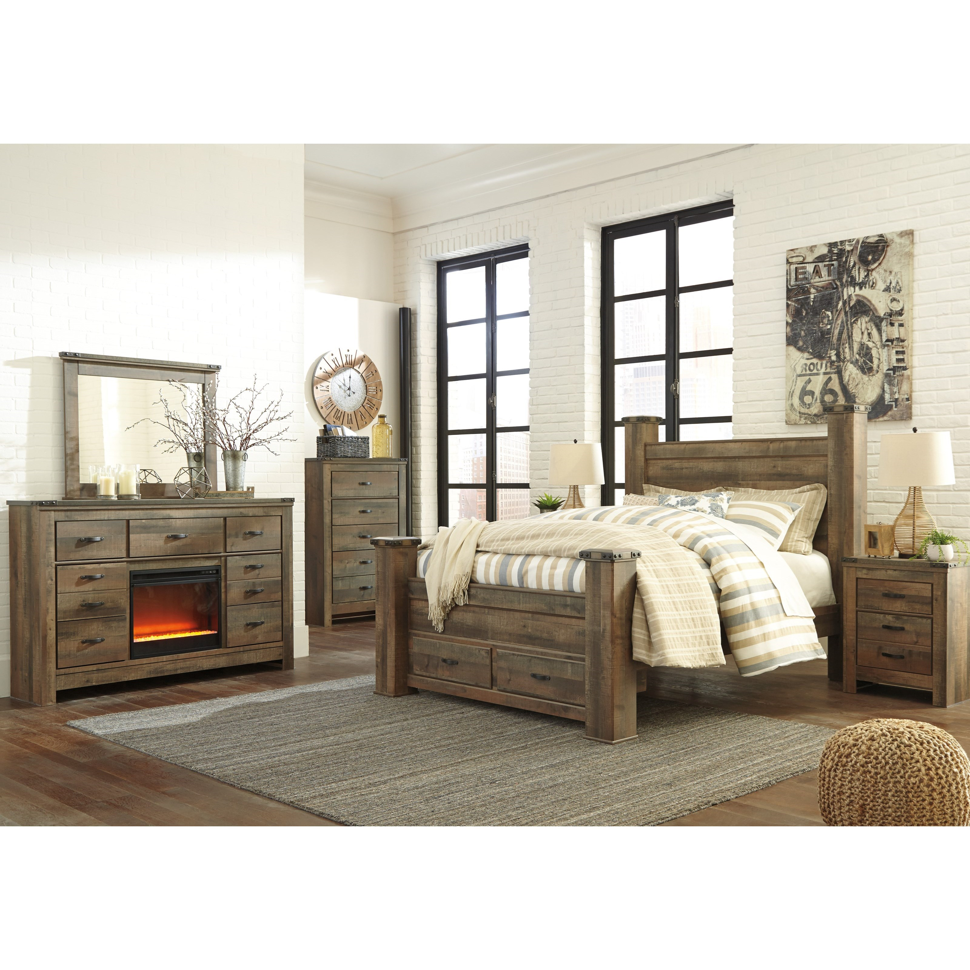 Ashley City Furniture: Signature Design By Ashley Trinell Queen Bedroom Group