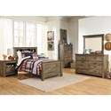 Signature Design by Ashley Trinell Twin Bedroom Group - Item Number: B446 T Bedroom Group 12