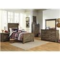 Signature Design by Ashley Trinell Twin 5 Piece Bedroom Group - Item Number: B446 Twin 5 Pc Group