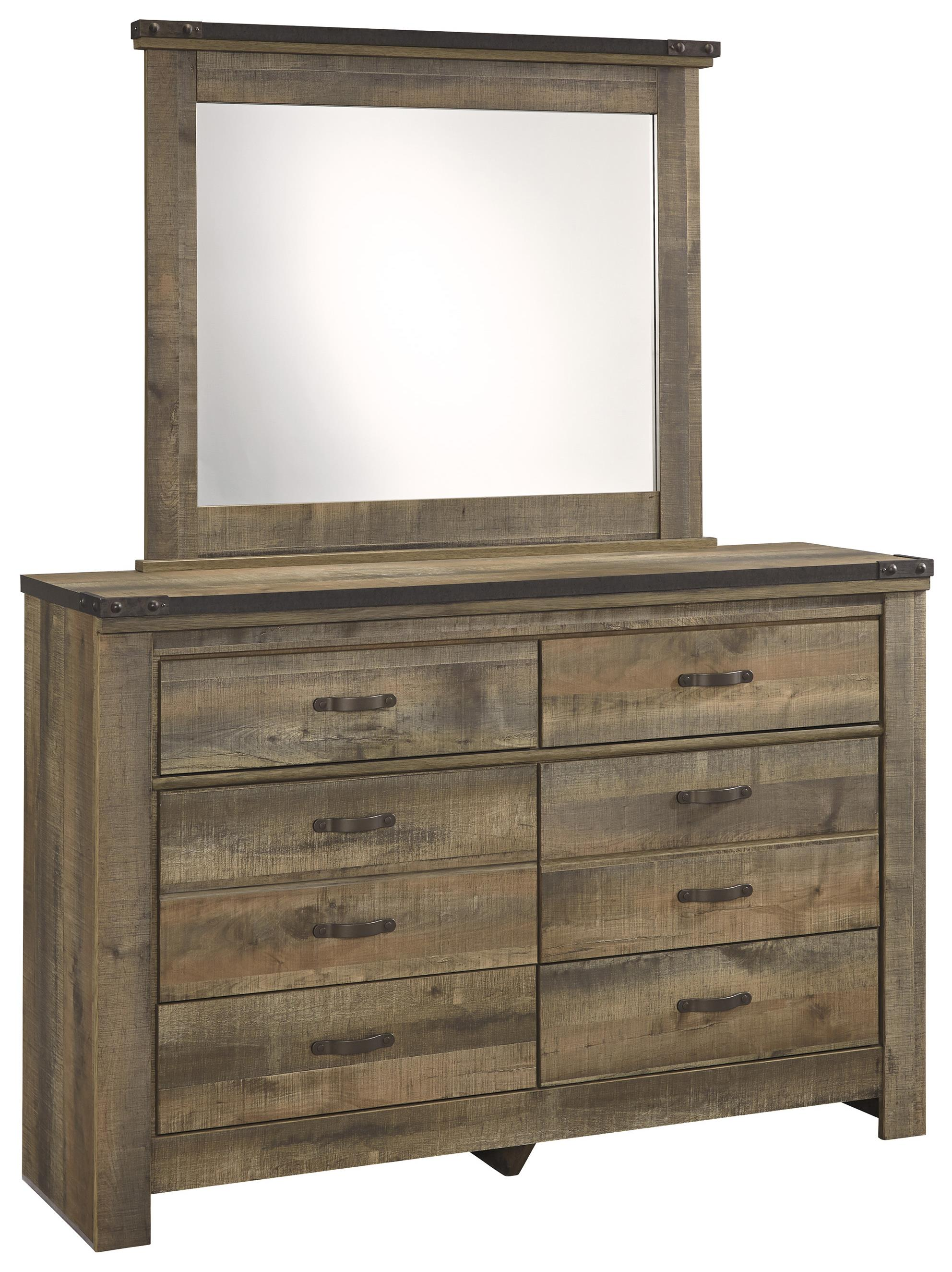 Signature Design by Ashley Trinell Youth Dresser & Bedroom Mirror - Item Number: B446-21+26