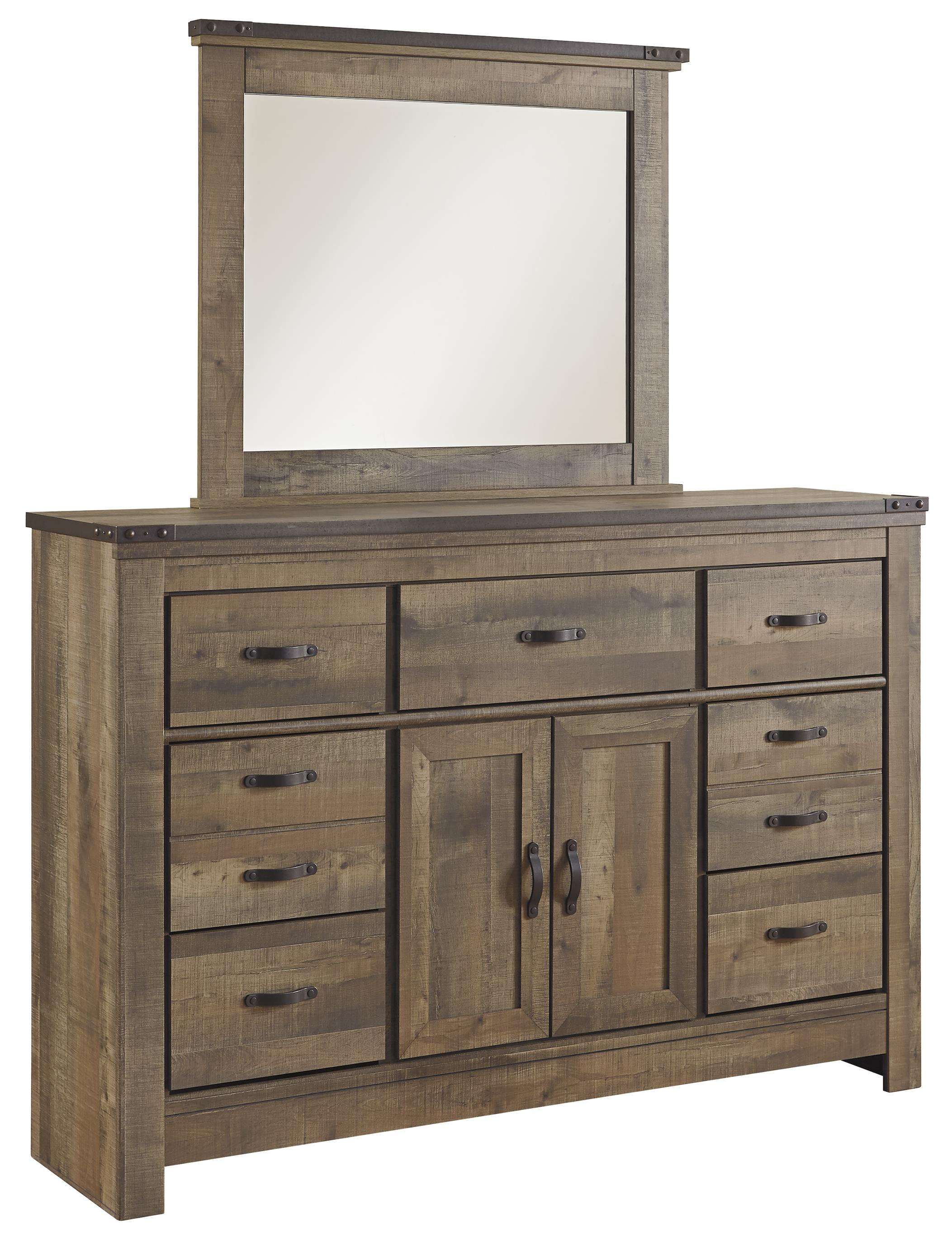 Signature Design by Ashley Trinell Dresser & Mirror - Item Number: B446-32+26