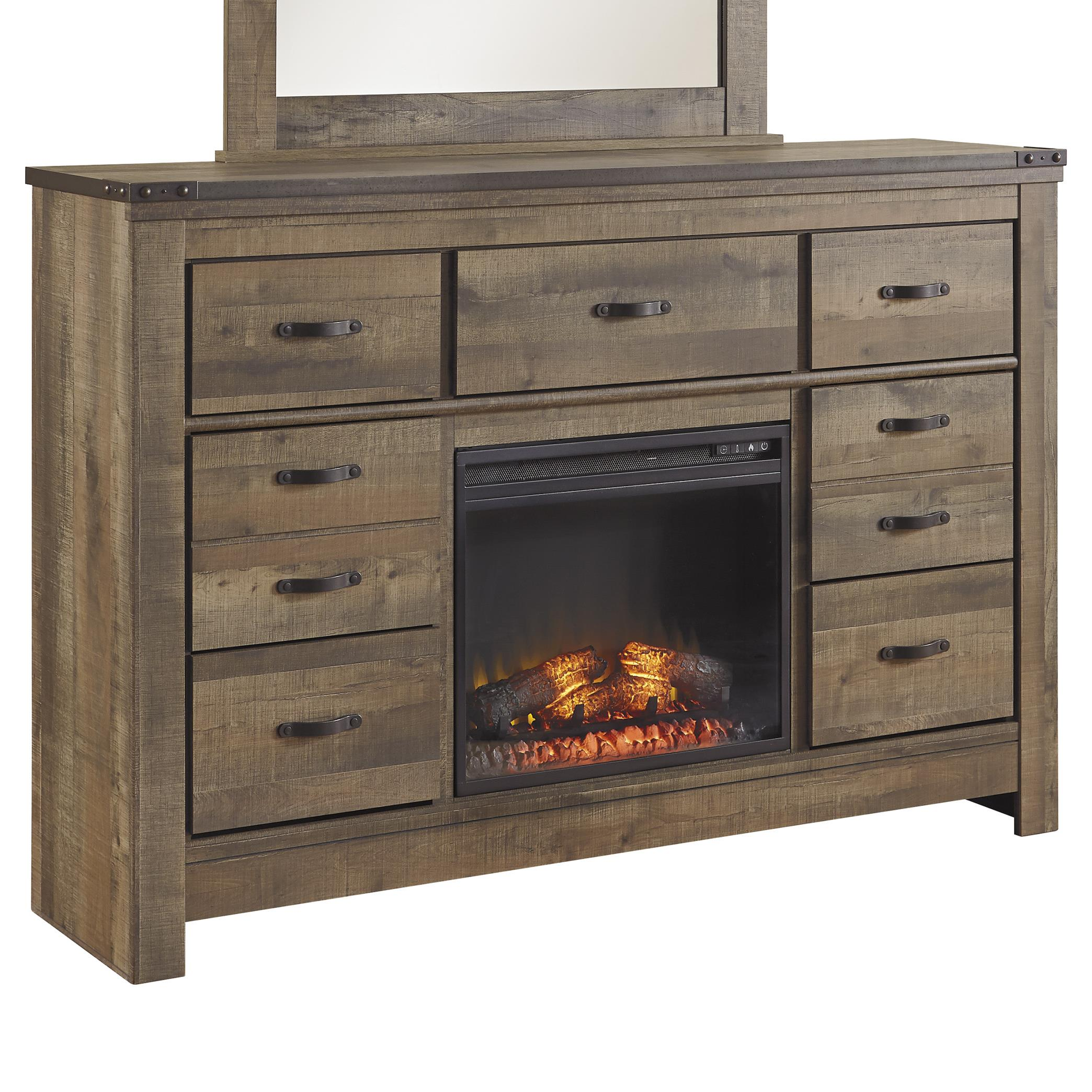 Signature Design by Ashley Trinell Rustic Look Dresser with ...