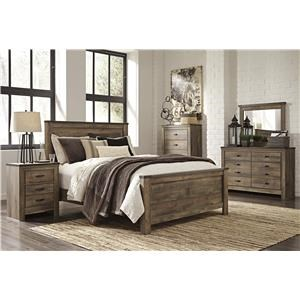 Ashley Signature Design Trinell 4 Piece Queen Bedroom
