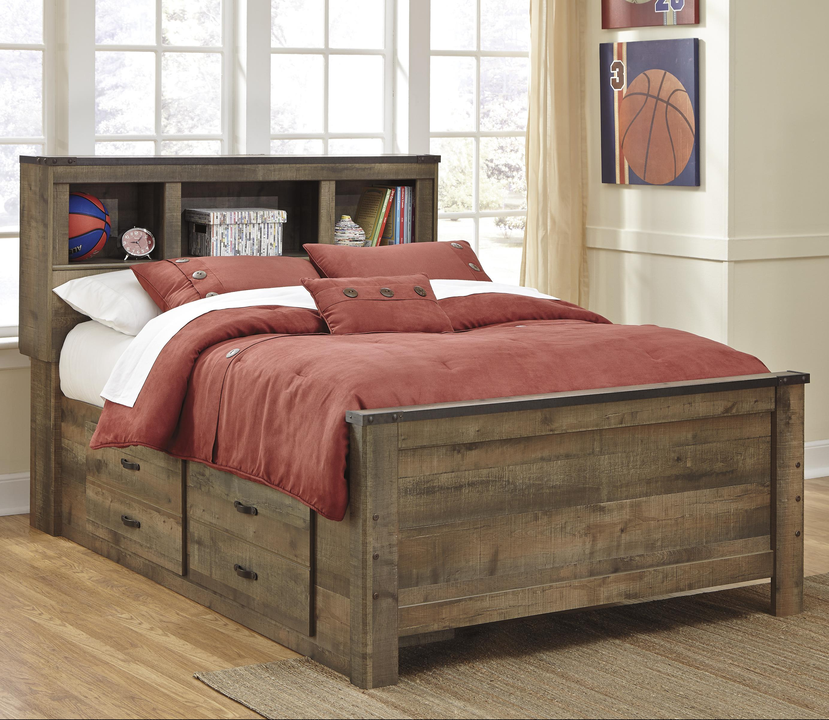 Signature design by ashley trinell rustic look full - Ashley furniture full bedroom sets ...