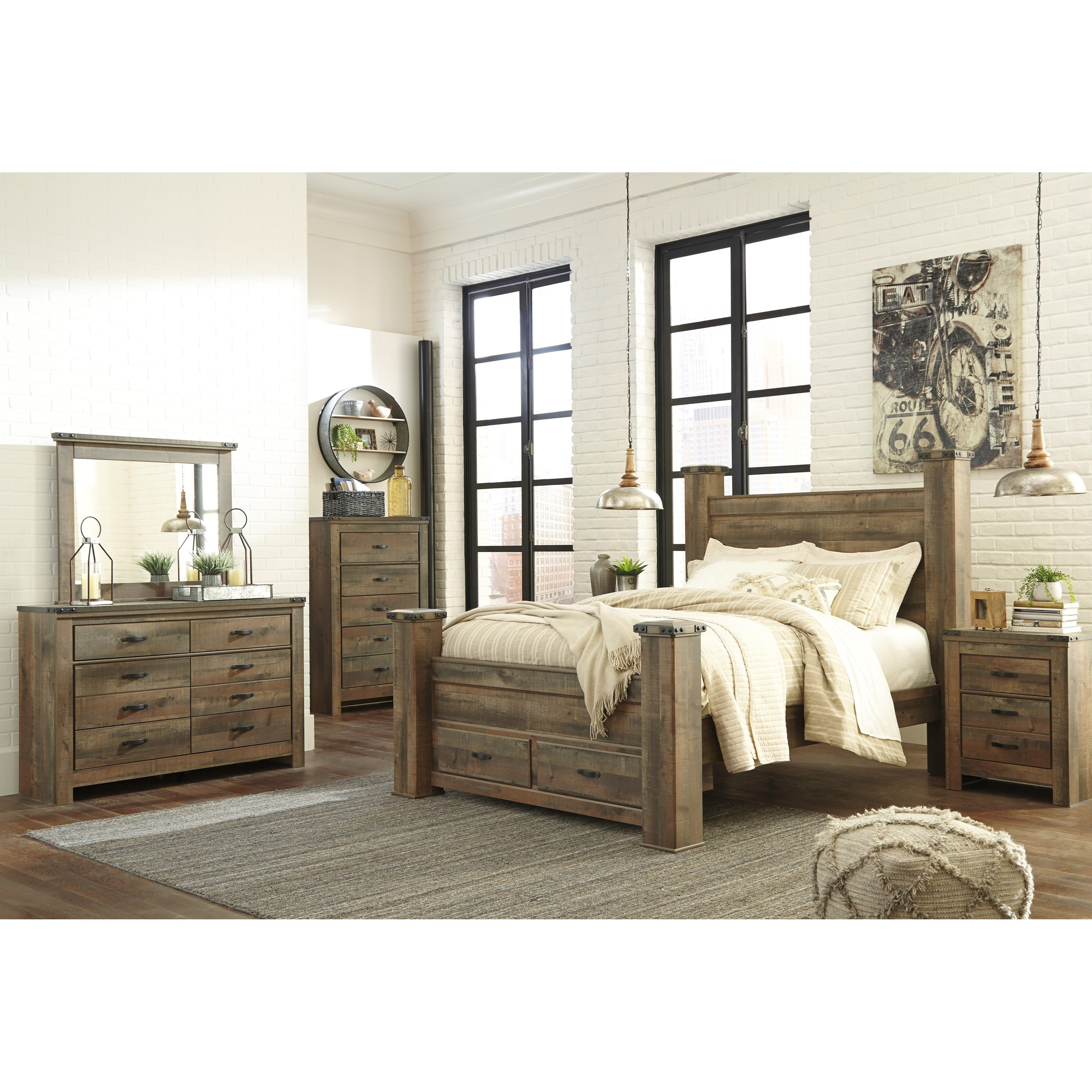 Ashley Furniture Beds: Signature Design By Ashley Vickers Rustic Look Queen
