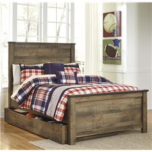 Signature Design by Ashley Trinell Full Panel Bed w/ Under Bed Storage/Trundle