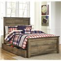 Signature Design by Ashley Trinell Full Panel Bed w/ Under Bed Storage/Trundle - Item Number: B446-87+84+86+60