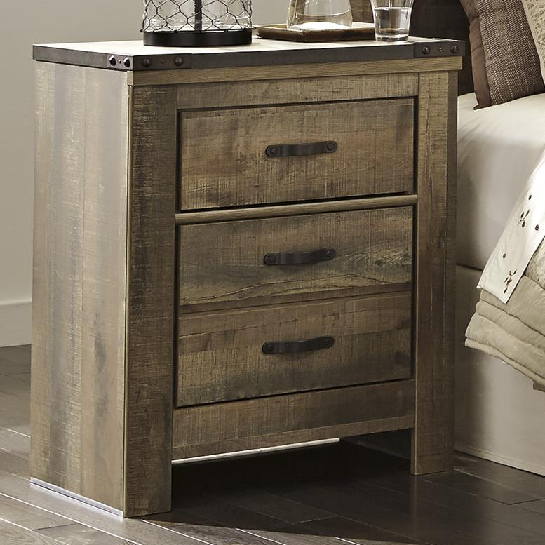Signature Design by Ashley Trinell Two Drawer Night Stand - Item Number: B446-92