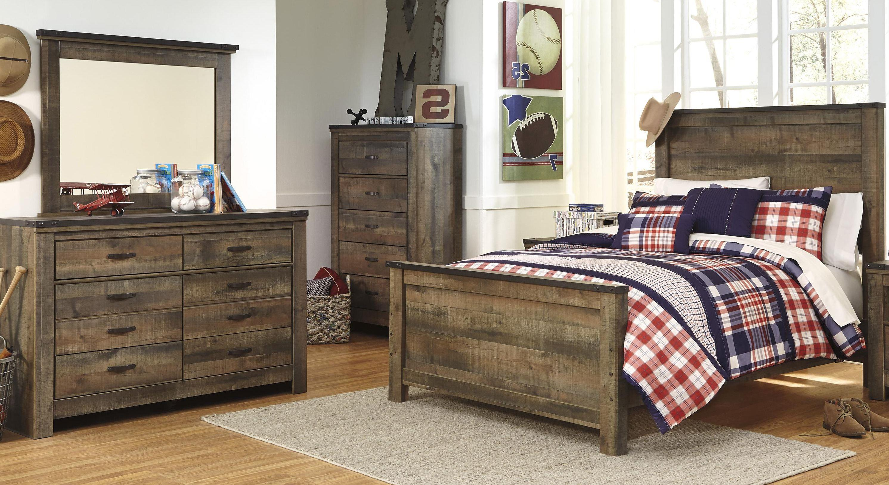 Signature design by ashley trinell full bed dresser and - Ashley furniture full bedroom sets ...