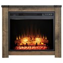 Signature Design by Ashley Trinell Fireplace Mantel with Fireplace Insert - Item Number: W446-368