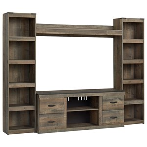 Entertainment Wall Unit w/ Piers and Bridge