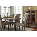Signature Design by Ashley Tripton Dining Upholstered Side Chair with Button Tufting and Roll Back Design