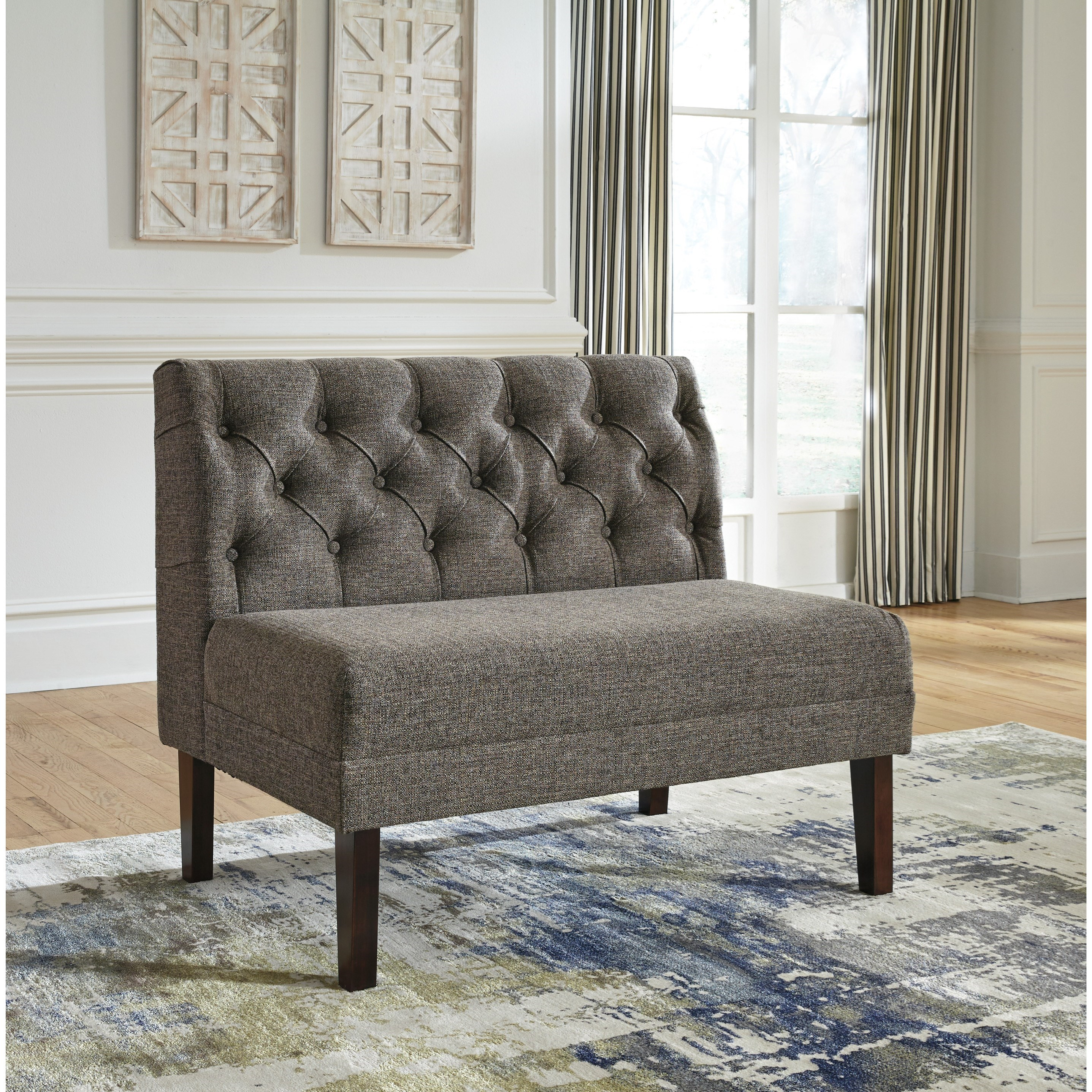 Tripton Extra Large Dining Bench: Signature Design By Ashley Tripton Large Upholstered