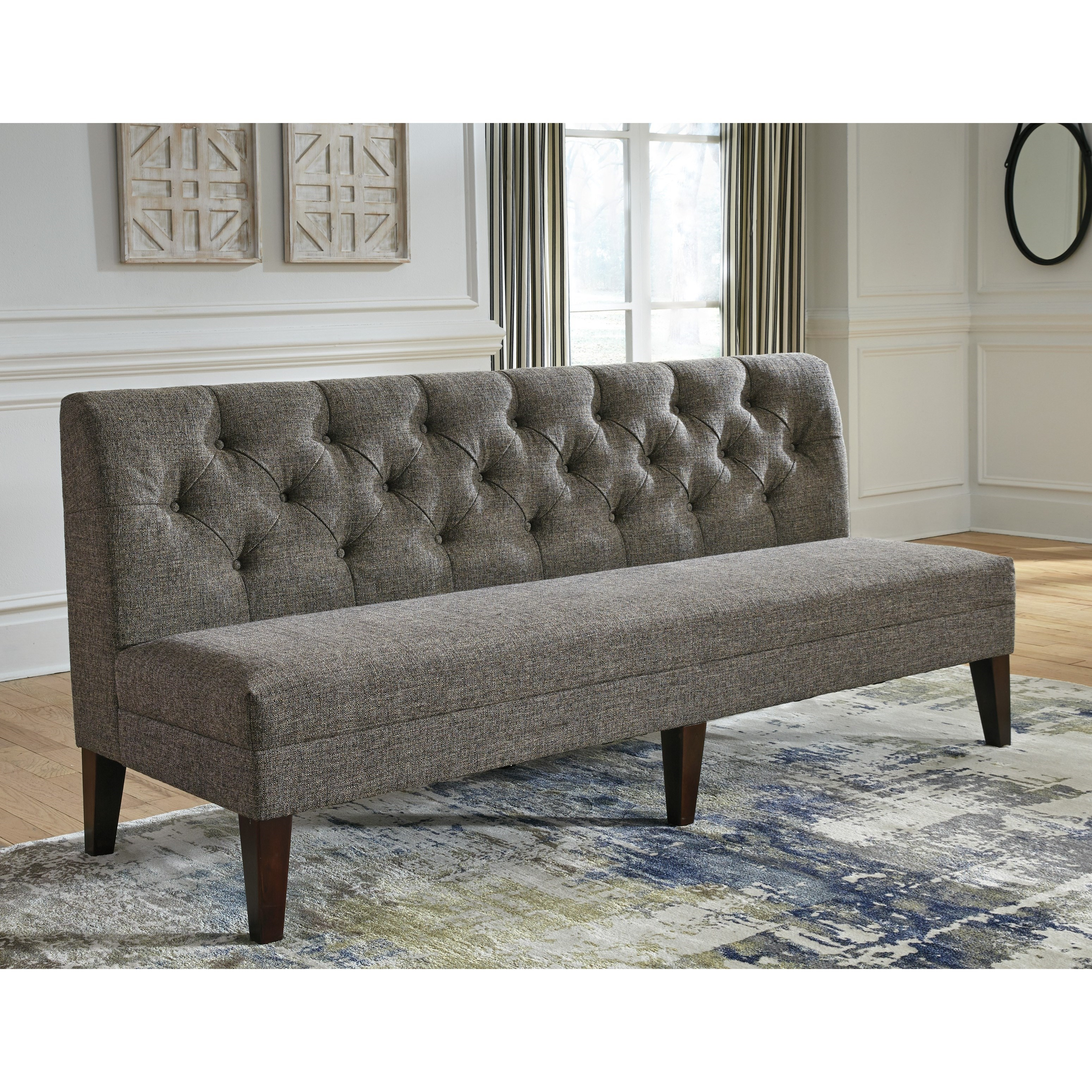 Extra Large Dining Room Sets: Tripton Extra Large Upholstered Dining Room Bench