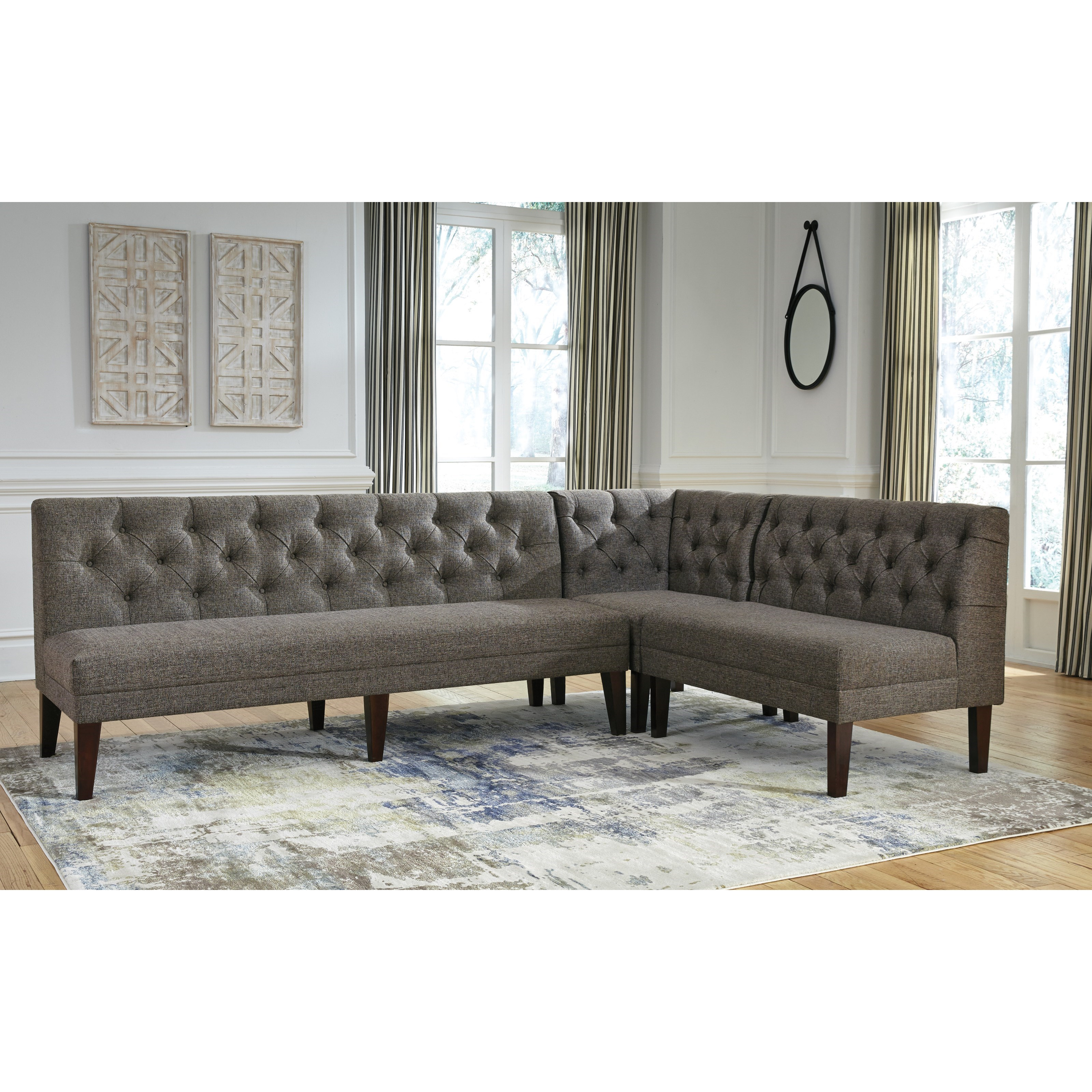 Ashley Furniture Tripton Medium Brown Dining Bench With Corner: Signature Design By Ashley Tripton Extra Large Upholstered