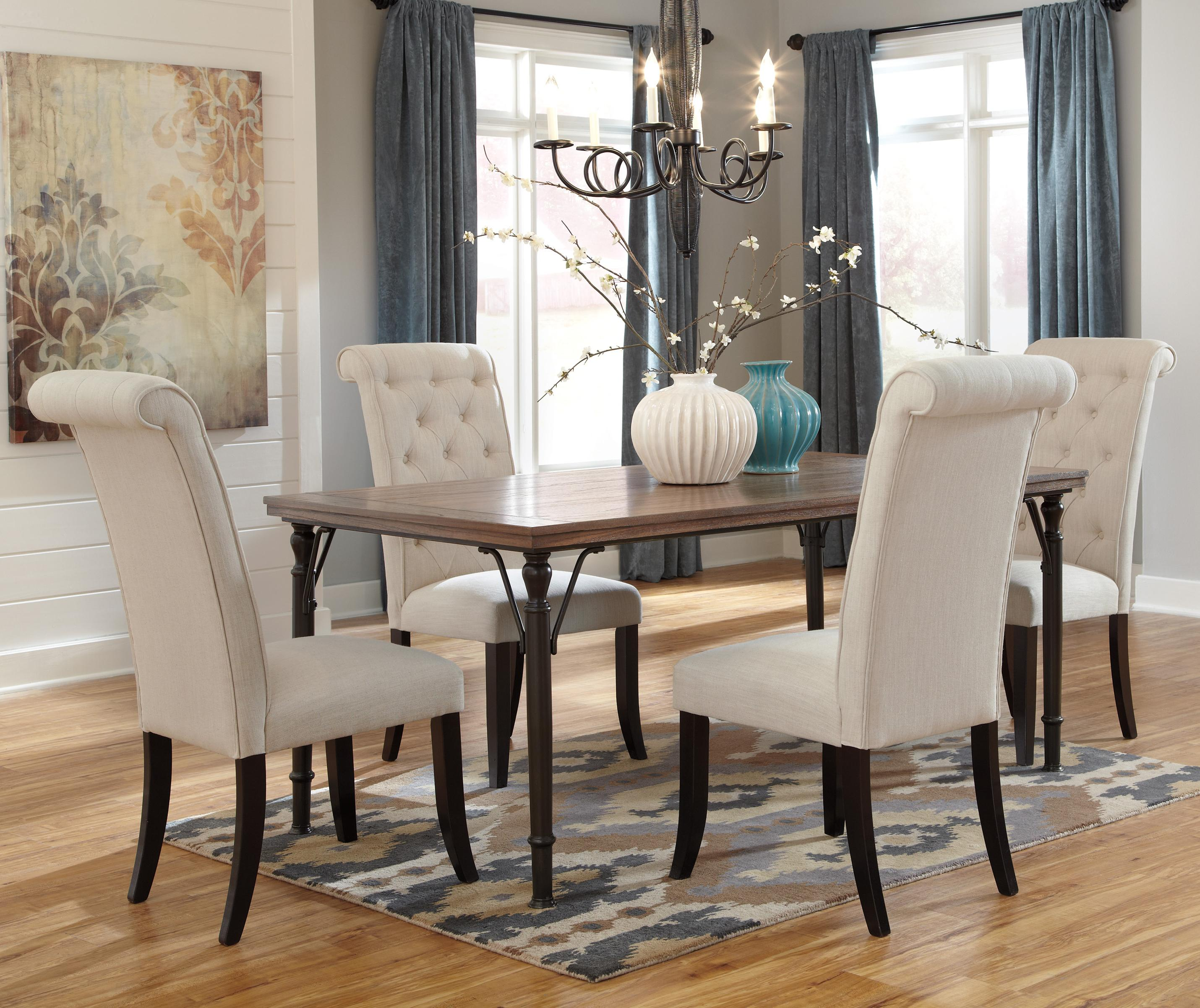 Ashley signature design tripton 5 piece rectangular dining for 5 piece dining room set with bench