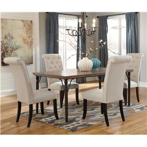 StyleLine Pearl 5-Piece Rectangular Dining Room Table Set