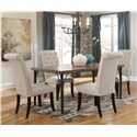 Signature Design by Ashley Tripton 5-Piece Rectangular Dining Room Table Set - Item Number: D530-25+4x01
