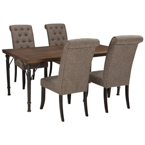 Signature Design by Ashley Tripton 5-Piece Rectangular Dining Room Table Set