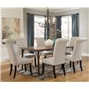 Signature Design by Ashley Tripton 7-Piece Rectangular Dining Room Table Set - Item Number: D530-25+6x01