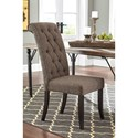 Signature Design by Ashley Tripton 7-Piece Rectangular Dining Room Table Set w/ Wood Top & Metal Legs