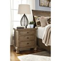 Signature Design by Ashley Trishley Solid Wood Pine Three Drawer Night Stand