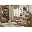 Signature Design by Ashley Trishley Solid Pine Wood Pier Cabinet Bookcase