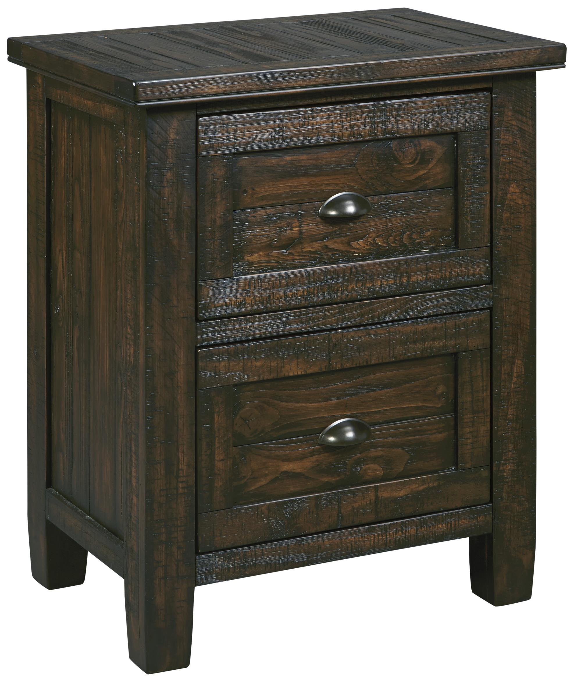 Signature Design by Ashley Trudell Two Drawer Night Stand - Item Number: B658-92