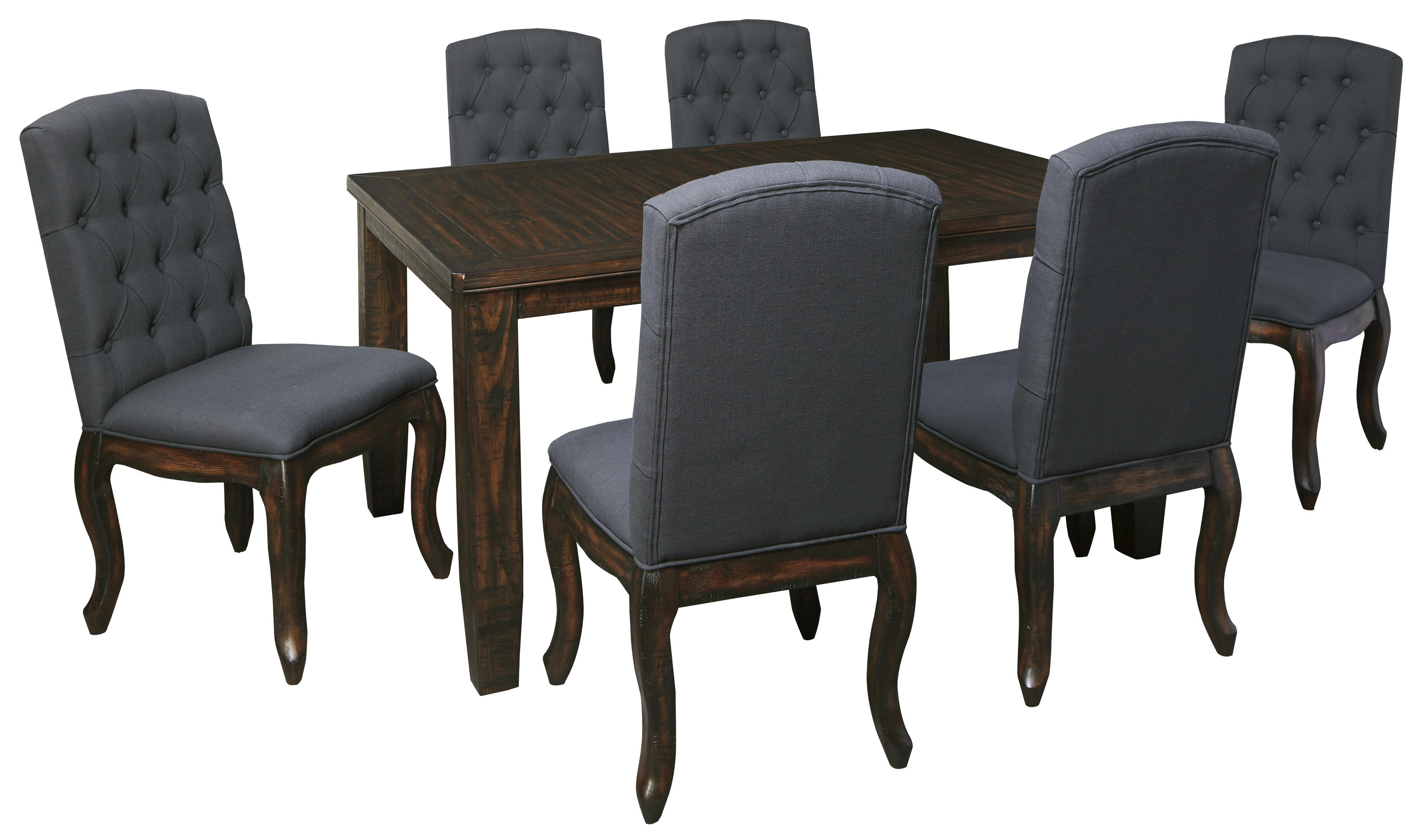 Signature Design by Ashley Trudell 7-Piece Rectangular Dining Table Set - Item Number: D658-35+6x02