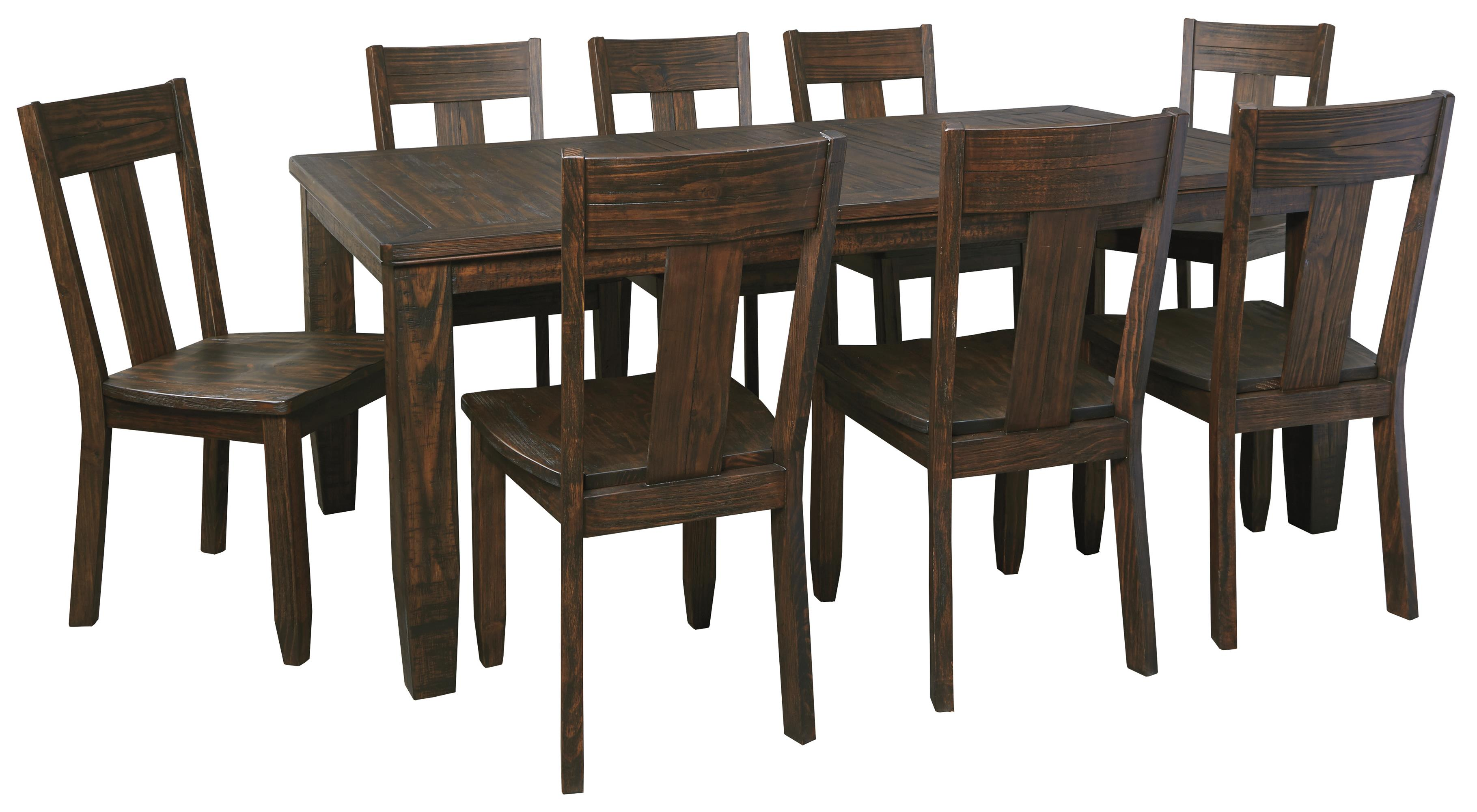 signature design by ashley trudell 9 piece rectangular dining signature design by ashley trudell 9 piece rectangular dining table set item number