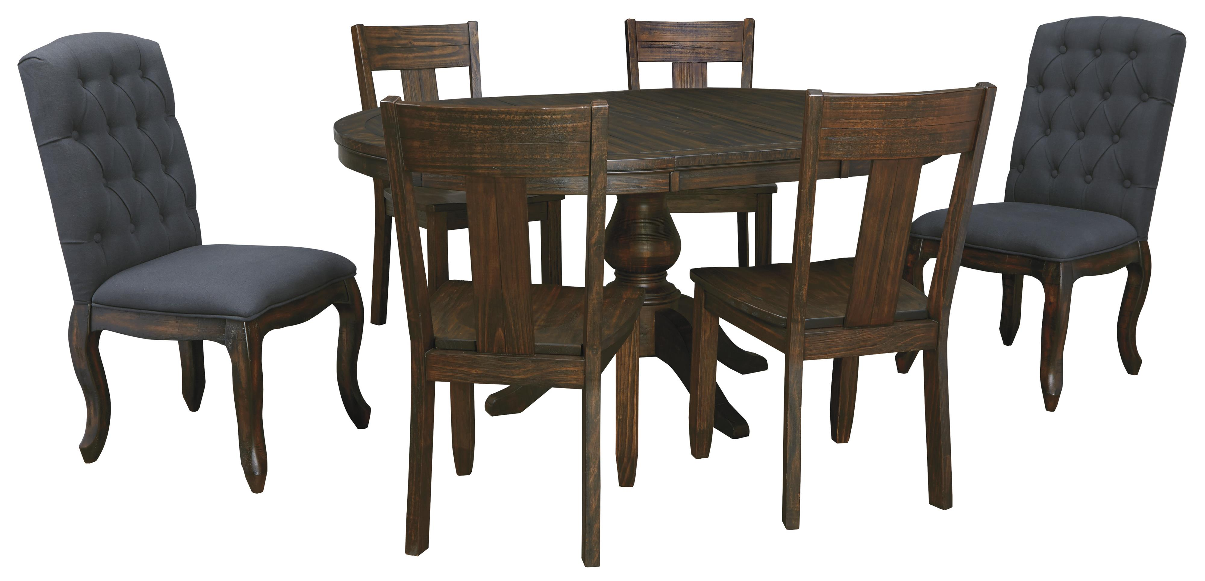 Ashley signature design trudell 7 piece oval dining table for 7 piece dining set with bench