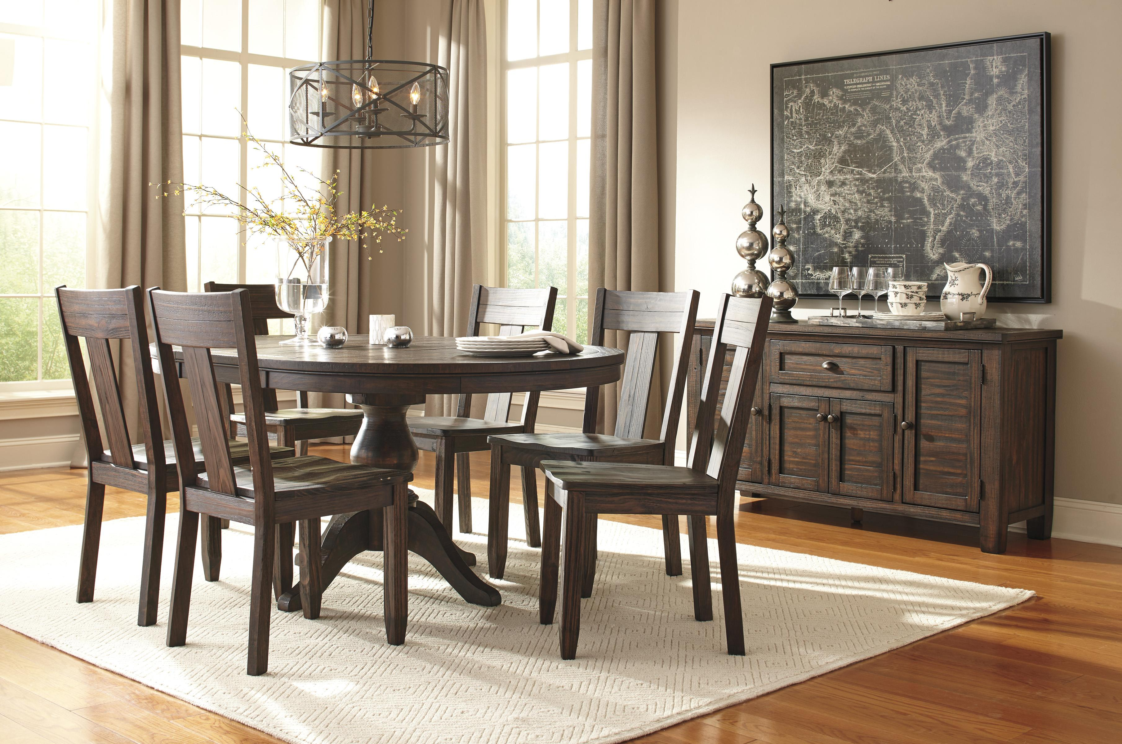 Ashley Signature Design Trudell 7-Piece Oval Dining Table