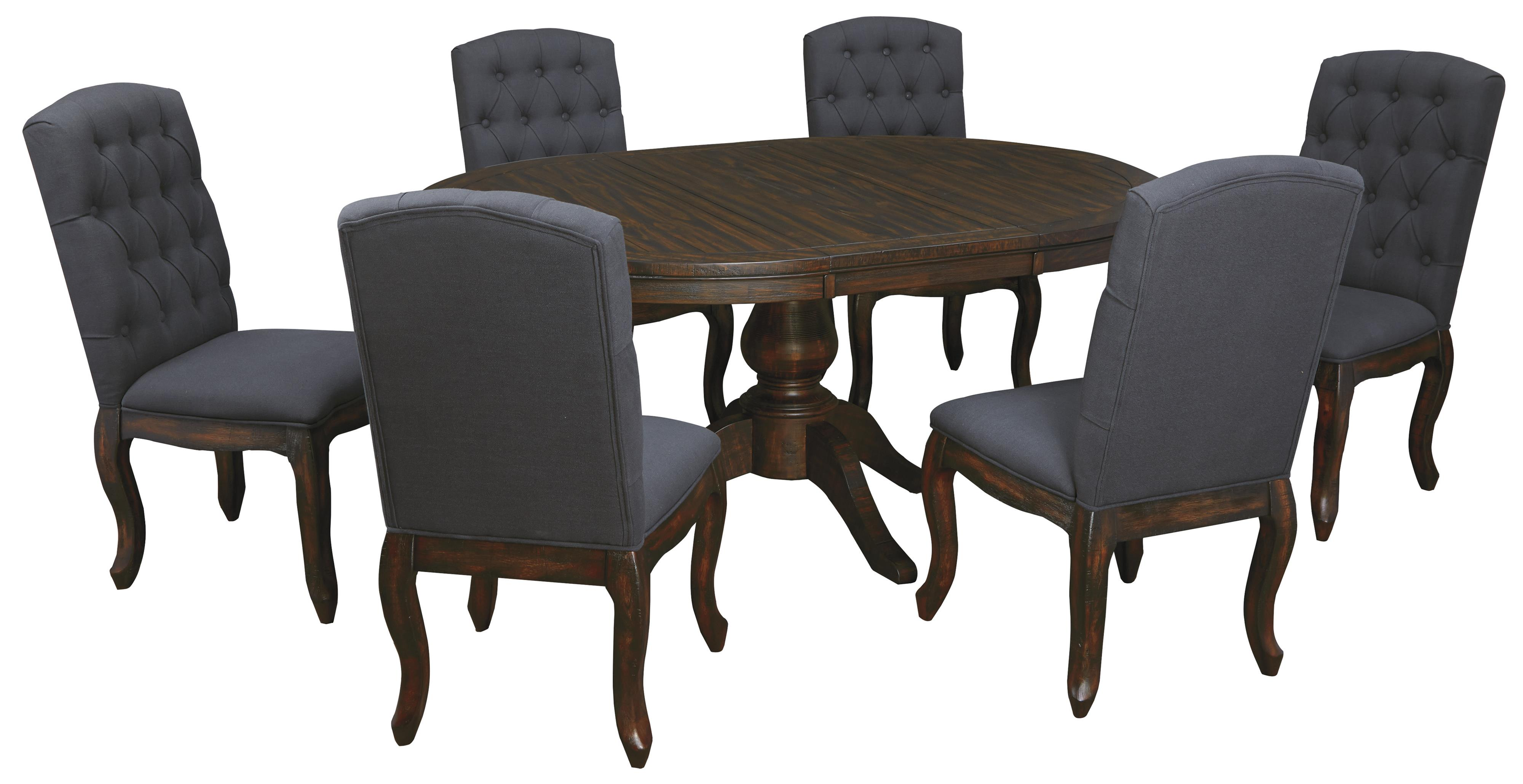 7-Piece Oval Dining Table Set