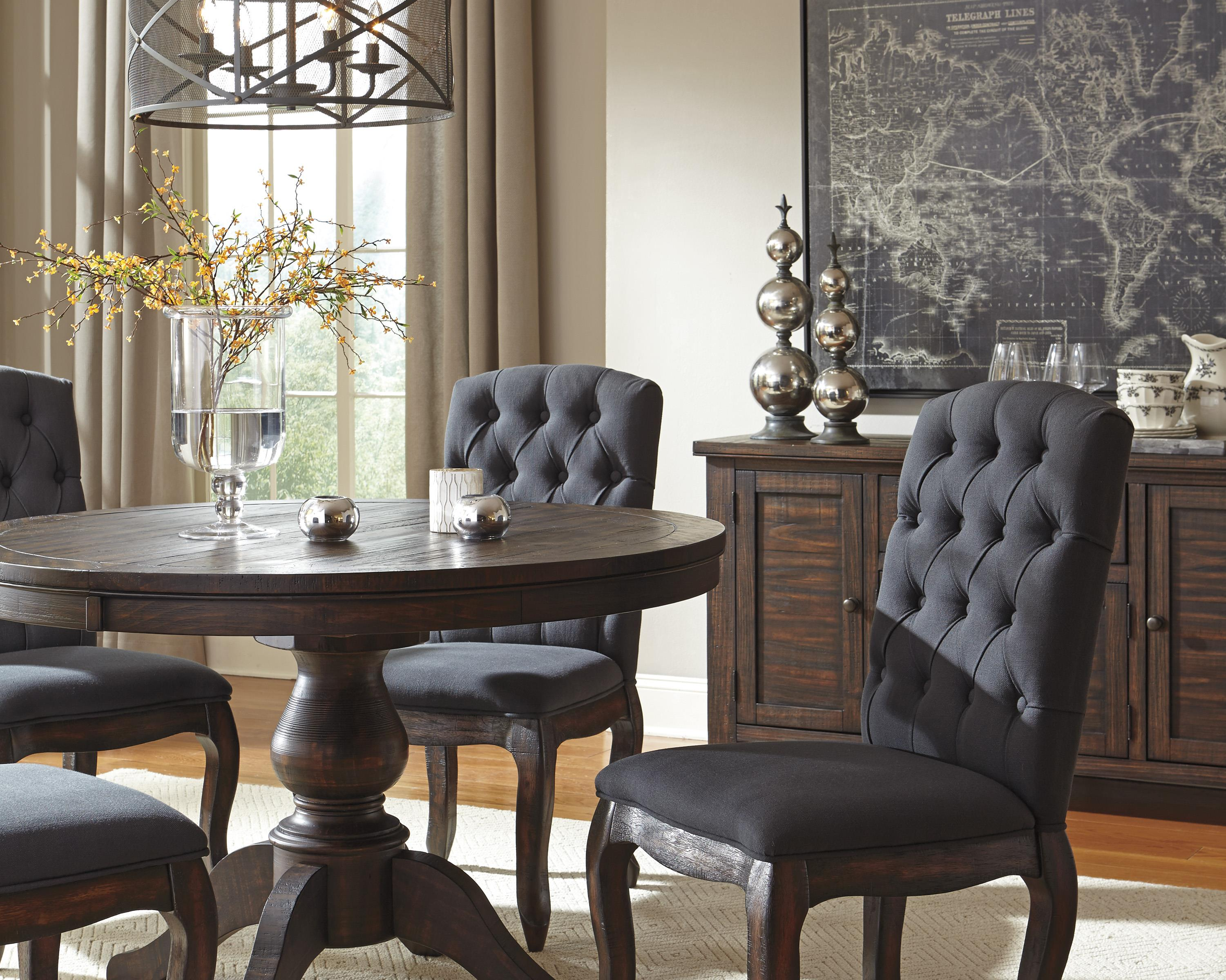 Ashley S Nest Decorating A Dining Room: Signature Design By Ashley Trudell Solid Wood Pine Round
