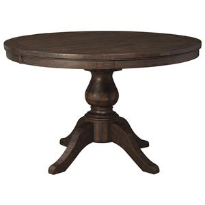 Signature Design by Ashley Trudell Round Dining Room Pedestal Extension Table