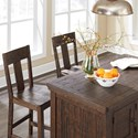 Signature Design by Ashley Trudell 3-Piece Island/Rectangular Counter Table Set