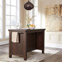 Signature Design by Ashley Trudell Solid Wood Pine Island/Rectangular Counter Table w/ Storage