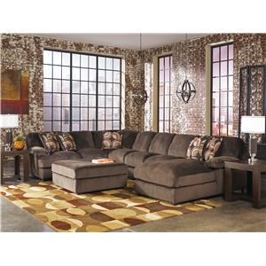 Ashley (Signature Design) Truscotti - Cafe Stationary Living Room Group