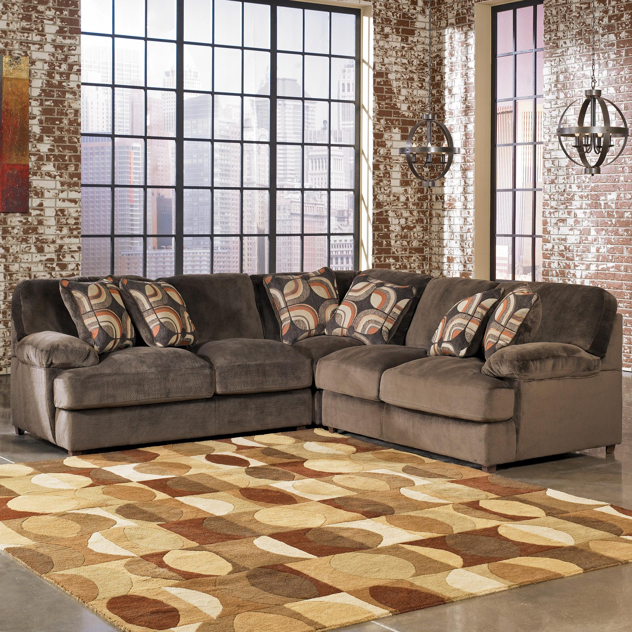 Truscotti Cafe Contemporary 3 Piece Sectional With Two Love Seats By Signature Design Ashley