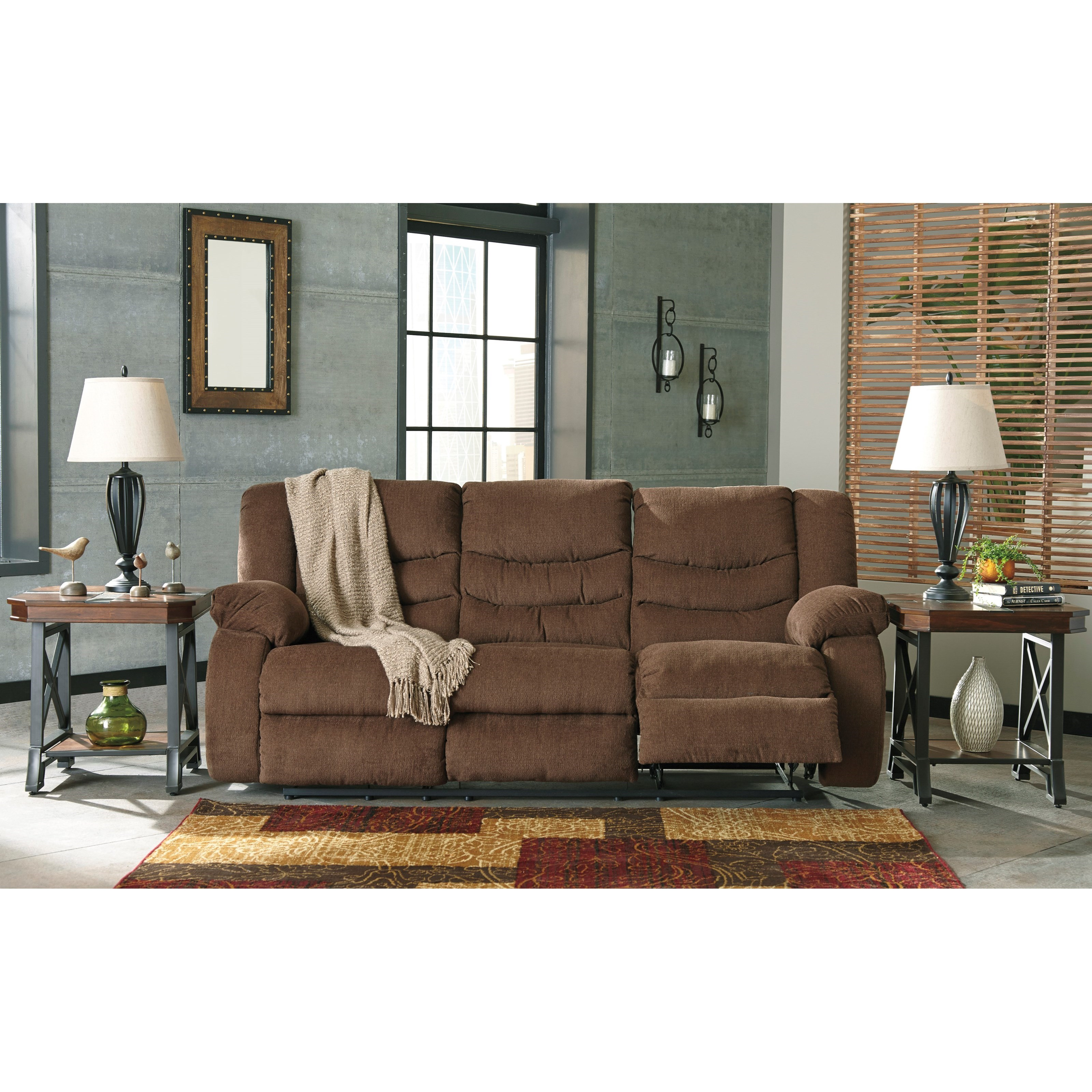 Furniture By Ashley: Signature Design By Ashley Tulen Contemporary Reclining Sofa