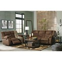 Signature Design by Ashley Tulen Contemporary Reclining Sofa
