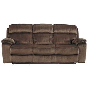 Signature Design by Ashley Uhland Power Reclining Sofa w/ Adjustable Headrest