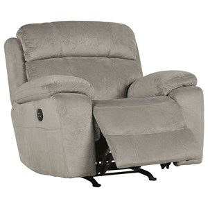 Benchcraft Uhland Power Recliner with Adjustable Headrest