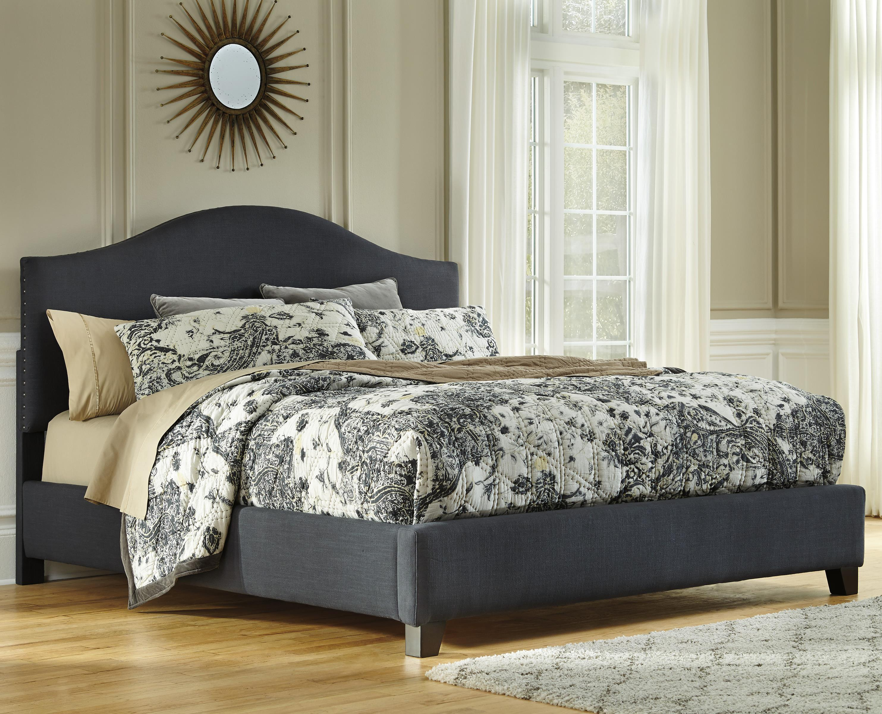 Signature Design by Ashley Kasidon Queen Upholstered Bed - Item Number: B600-457+454+496