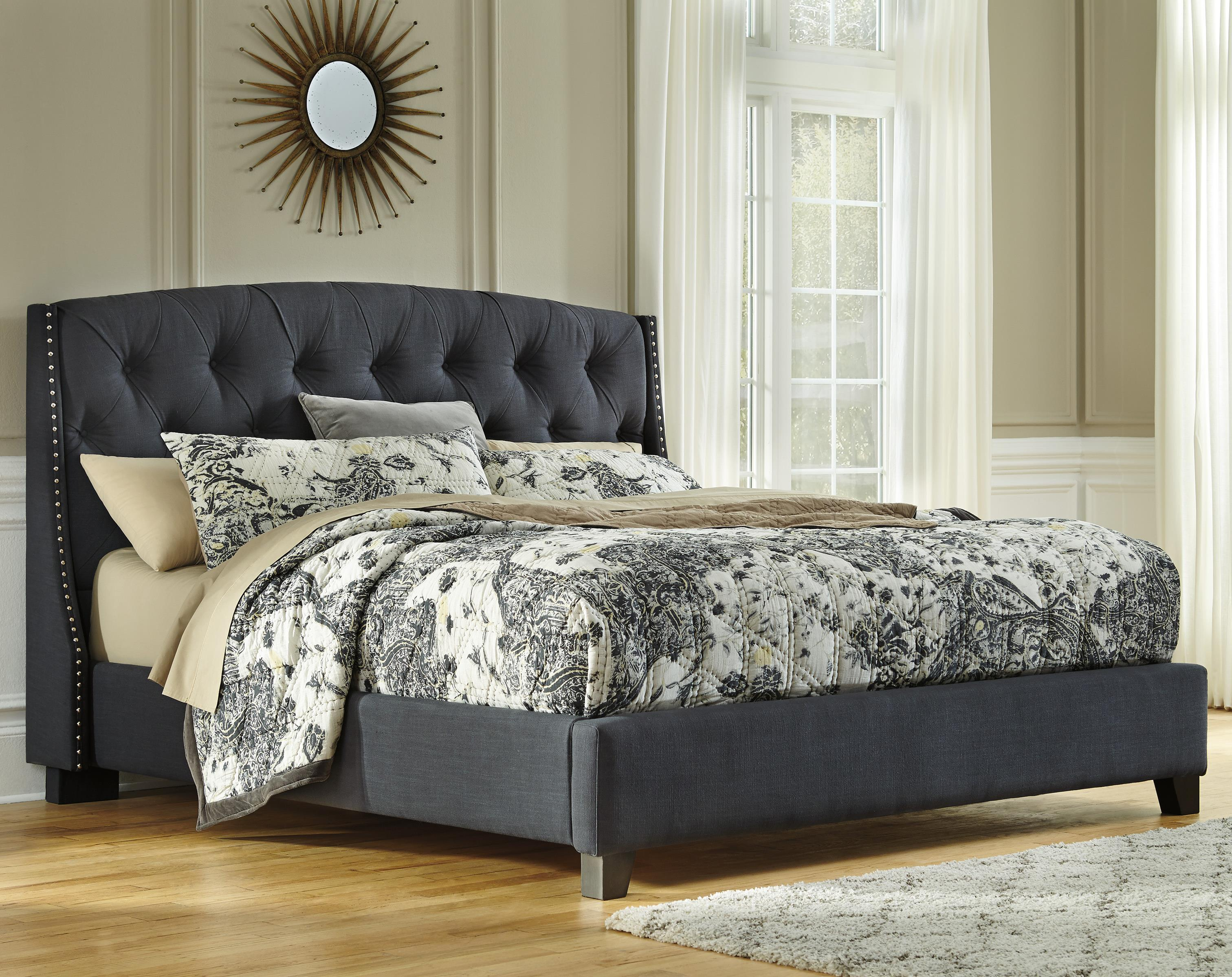 Signature Design by Ashley Kasidon California King Upholstered Bed - Item Number: B600-558+556+594